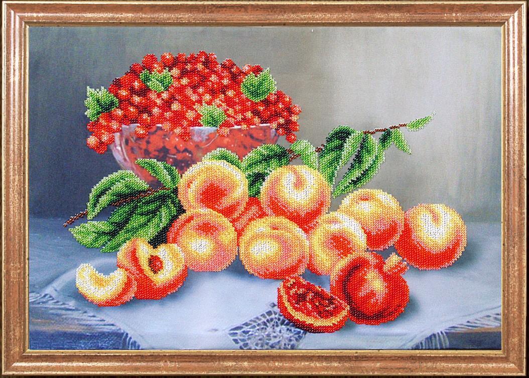 Алмазная вышивка персики 2
