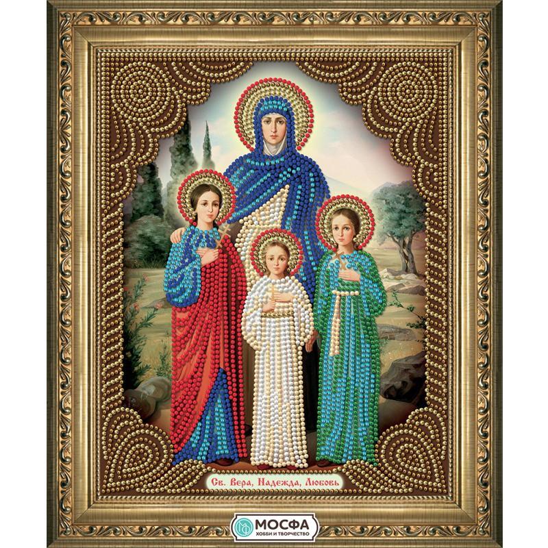 Набор вышивка бисером икона вера надежда любовь 67
