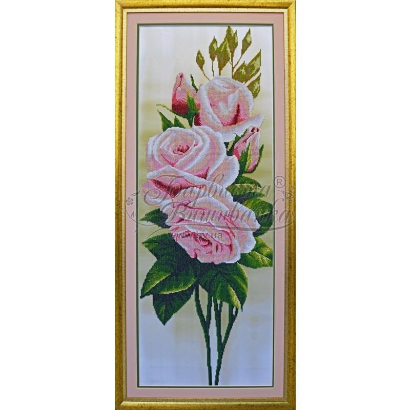 Вышивка бисером свежие розы от барвиста вышиванка 663
